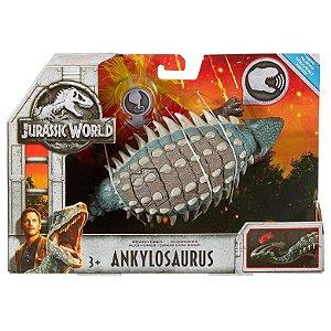 Figura Jurassic World Dinossauro Ankylosaurus Mattel Fmm23