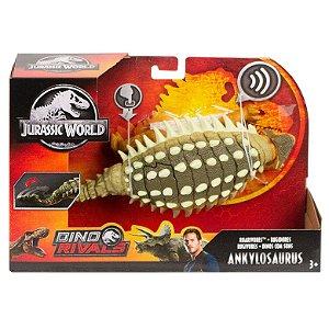 Figura Jurassic World Dino Rivals Ankylosaurus Mattel Fmm23