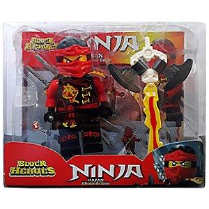 Boneco Block Heroes Mini Ninja Sortido da Polibrinq BL587