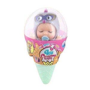 Boneca Doce Bebe Nenem Sorvetinho Surpresa Polibrinq KB002