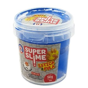 Massinha Infantil Super Slime Estica e Pula Sortida 35g 2031