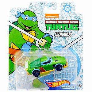 Hot Wheels Carro Tartarugas Ninjas Leonardo da Mattel Gjh91