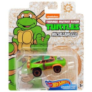 Hot Wheels Carro Tartarugas Ninjas Michelangelo Mattel Gjh91