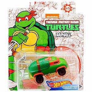 Hot Wheels Carro Tartarugas Ninjas Raphael da Mattel Gjh91