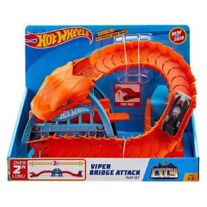 Hot Wheels Pista Ataque da Cobra na Ponte da Mattel Fnb05