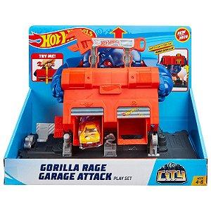 Hot Wheels Pista Ataque do Gorila na Garagem Mattel Fnb05