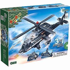 Bloco De Montar Banbao Força Tática Helicóptero 3 Em 1 8478