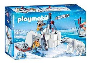 Brinquedo Playmobil 9056 Expedição Ártico Com Urso Polar