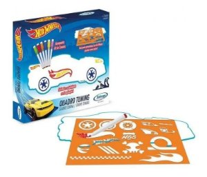 Brinquedo Educativo Quadro Tuning Pintar Hot Wheels Xalingo