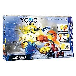 Brinquedo Robo Kombat Boom Pack com Balao Ycoo da Dtc 5222