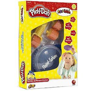 Play Doh Tinta Pote Rolinho de Estampas Cores Sortidas 84326