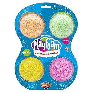 Massinha Espuma Play Foam Glitter Pack com 4 Unidades 40050