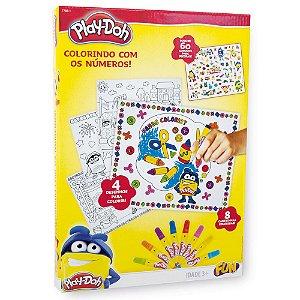 Brinquedo Play Doh Artes Colorindo com Numeros da Fun 77881