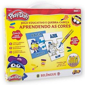 Play Doh Kit de Arte Aprendendo As Cores em Ingles Fun 77883