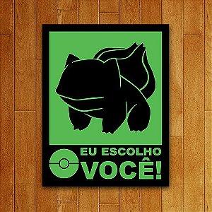 Placa Decorativa Nerd Eu Escolho Você Verde Adesivo 18x23cm