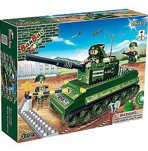 Bloco De Montar Banbao Força Tática Tanque De Guerra 8234