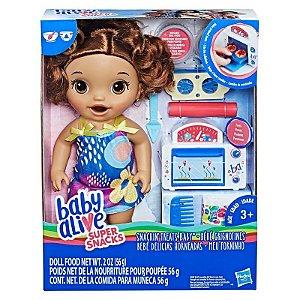 Boneca Baby Alive Meu Forninho Morena E2098 Hasbro