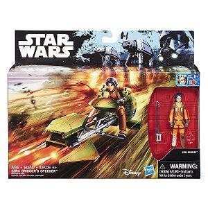 Veiculo Star Wars Bridgers Speeder e Ezra da Hasbro B3716