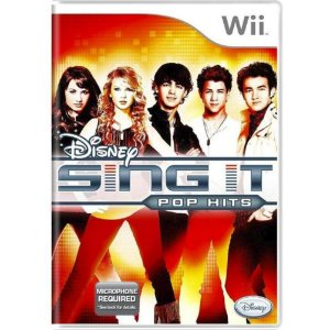 Jogo Midia Fisica Disney Sing It Pop Hits para Nintendo Wii
