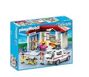 Playmobil City Life Centro Médico Com Ambulância 5012