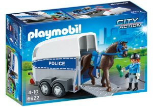 Playmobil City Action O Trailer da Policia com Cavalo 6922
