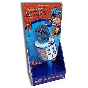 Microfone Karaoke Show Bluetooth Azul Sortido da Toyng 36739