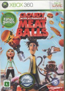 Jogo Midia Física Cloudy With A Chance Of Meatballs Xbox 360