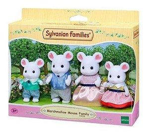 Sylvanian Families Família Dos Ratos Marshmallow Epoch 5308