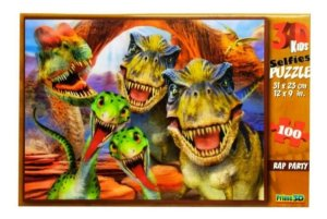 Quebra Cabeça 3D Dino Selfie com 100 Peças Multikids BR1053