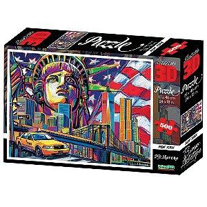 Quebra Cabeça 3D New York City 500 Peças da Multikids BR1055