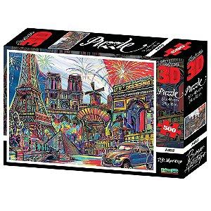 Quebra Cabeça 3D Cidade de Paris 500 Peças Multikids BR1056