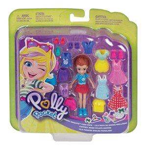 Polly Pocket Pronta para a Festa Lila Brilho Perolado Gft97