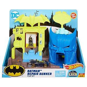 Hot Wheels City Pista Playset Batman Bunker de Reparo Gbw50