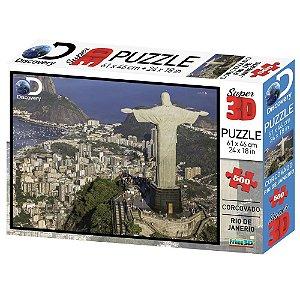 Quebra Cabeça 3D Rio de Janeiro 500 Peças Multikids BR1060