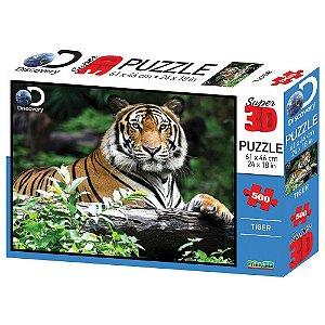 Quebra Cabeça 3D Puzzle Tigre com 500 Peças Multikids BR1059