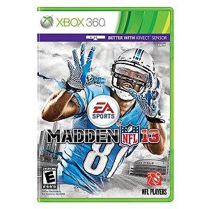 Jogo Novo Midia Fisica EA Sports Madden Nfl 13 para Xbox 360