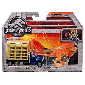 Jurassic World Veiculo Matchbox T-Rex Trailer Mattel Fmy31