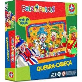 Jogotabuleiro Patati Patata Quebra Cabeça 60 Peças Estrela