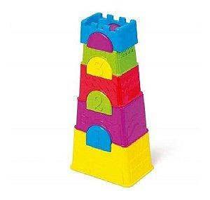 Torre Maluca Brinquedo Educativo 10 Peças Empilhar Tateti
