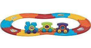 Brinquedo Baby Train Express Com 12 Trilhos Trem Mercotoys