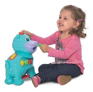 Brinquedo Educativo Amiguinho Hipopótamo Comilão Didático