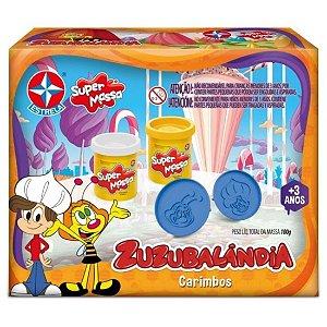Brinquedo Massinha Super Massa Zuzubalandia Carimbos Estrela