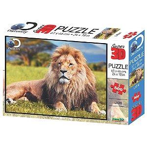 Quebra Cabeça 3D Puzzle Leao com 500 Peças Multikids BR1061