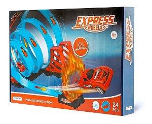 Pista Extreme Action Track Set Pista Carrinho Express Wheels