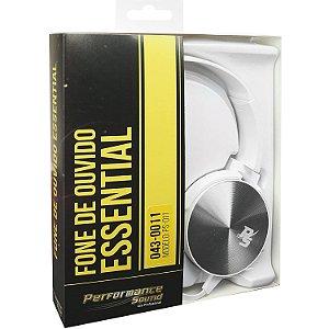 Fone de Ouvido Essential Flat Branco Performance Sound PS011