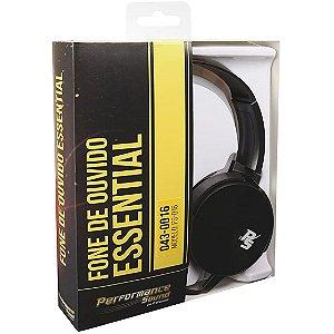 Fone de Ouvido Essential Flat Preto Performance Sound PS016