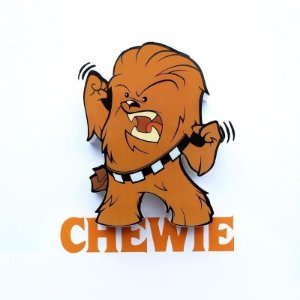 Chewie Luminária Star Wars Mini Chewbacca 3d Deco Light Fx