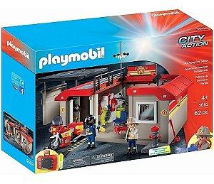 Brinquedo Playmobil Playset Posto De Bombeiro Original 5663