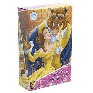 Bela e a Fera Princesa Puzzle 100 Peças Quebra Cabeça 02560