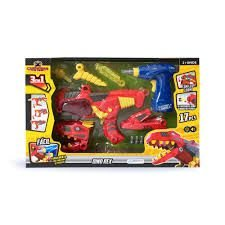 Brinquedo X Changers Junior Dino Rex 3 em 1 Multikids BR891